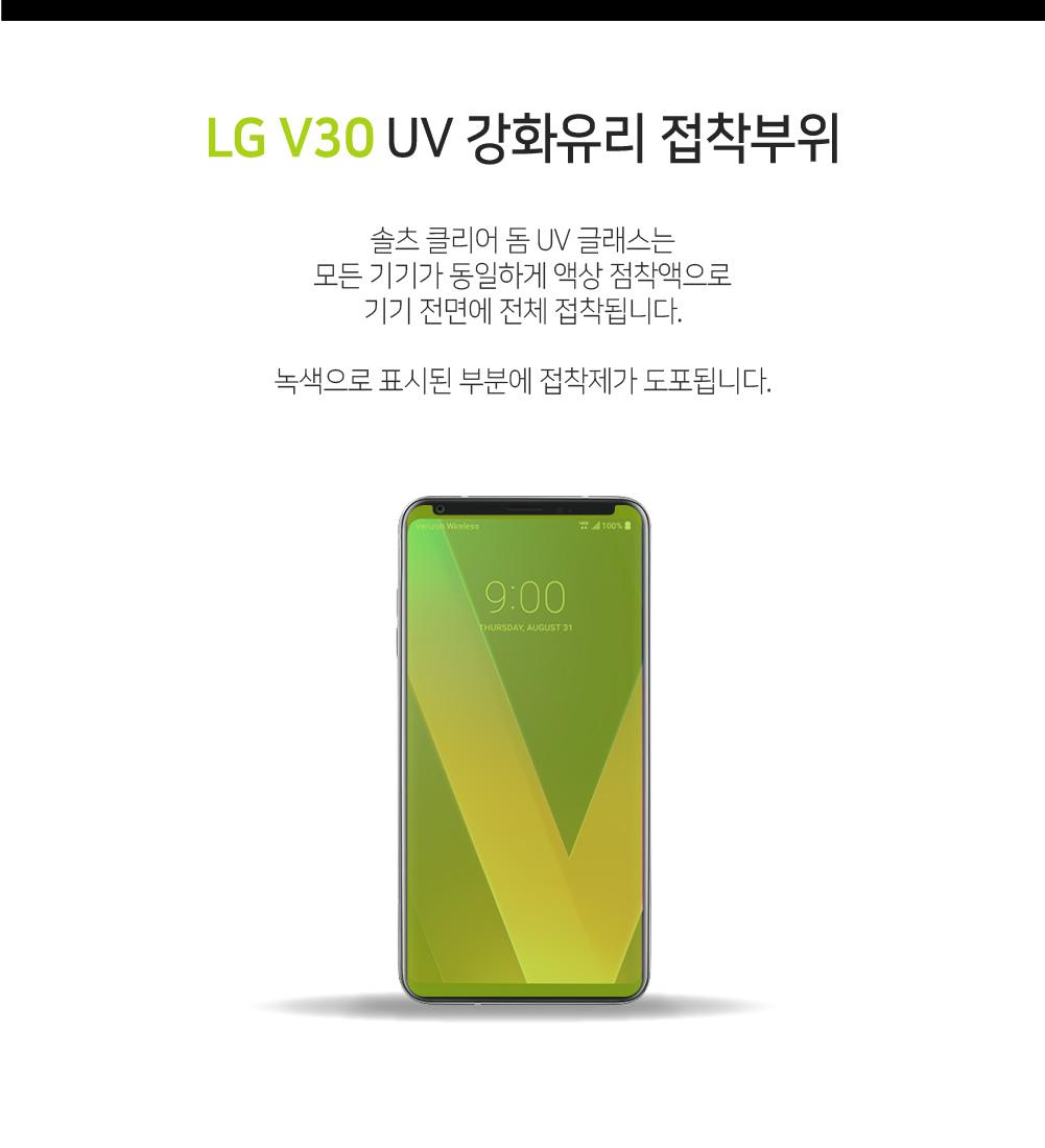 솔츠 LG V30 V35 풀점착 UV 강화유리 액정보호필름 - 솔츠, 10,900원, 필름/스킨, V30